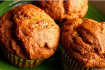 Anti-Inflammatory Coconut & Sweet Potato Muffins with Ginger, Cinnamon & Maple Syrup