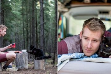 Guy Quits His Job & Sells Everything He Has to Travel with His Cat