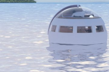 Would You Sleep in this Floating Capsule & Wake Up on a Private Island in the Morning?