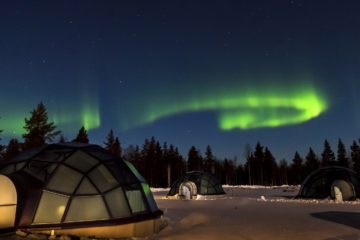 Now You Can Spend the Night in a Luxury Glass Igloo & Looking Up at the Northern Lights