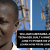 Malawain Teenager Builds a Windmill from Trash to Power His Village
