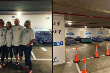 Parking Lot Transforms into a Safe Haven for Homeless at Night