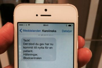 Blood Connects Us: In Sweden, Blood Donators Receive a Message when their Blood Has Helped Someone