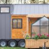 Would You Live in It: This Tiny Home Has Its Own Mobile Porch & a Greenhouse?