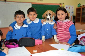 This Beautiful Rescued Puppy Goes to School & even Wears a Uniform