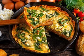 If You Don't Have an Idea what to Prepare for the Weekend, Check Out this Spinach & Feta Infused Quiche with a Sweet Potato Crust