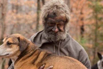 After Caring for Them in the Woods, this Homeless Man Had to Say Goodbye to these Stray Dogs