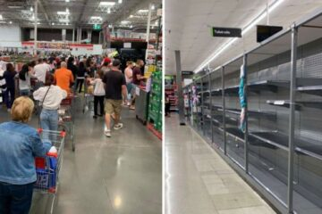 Panic in the US amidst COVID-19 Outbreak: Supermarket Long Lines & Empty Shelves
