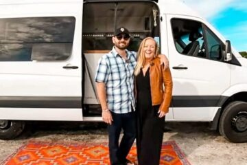 Couple Live a Simple & Adventure-Filled Life in a DIY Sprinter Van Conversion
