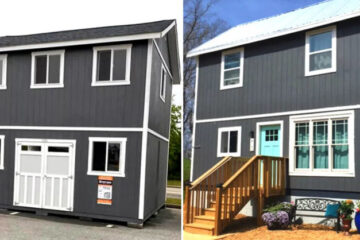 People Are Turning Home Depot Tuff Sheds Into Affordable Two-Story Tiny Homes