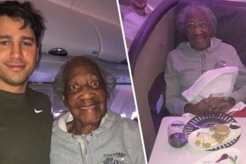 A Plane Passenger Gives Up His First-Class Seat To An 88 Y.O. Lady, Making Her Dream Come True