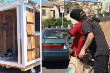 Man Sees Homeless Woman Outside His Home And Decides To Build Her A Tiny Home