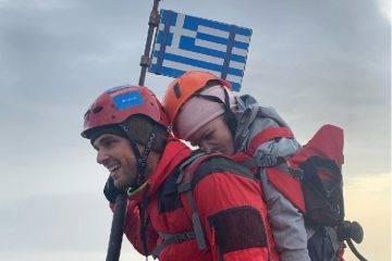 Greek Athlete Carries Disabled Student to the Peak of Mount Olympus