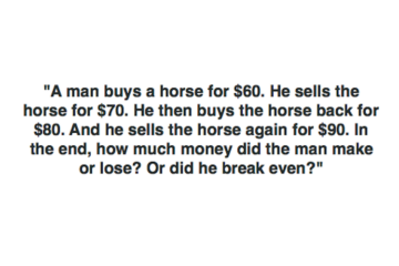 Seemingly Simple Horse Riddle Is a Real Head Scratcher