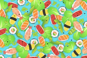Can You Spot the Caterpillar among the Sushi?!