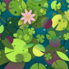 Can You Spot the Turtle among the Lily Pads?