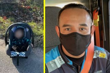 Amazon Driver Rescues an Abandoned Baby on the Side of the Road