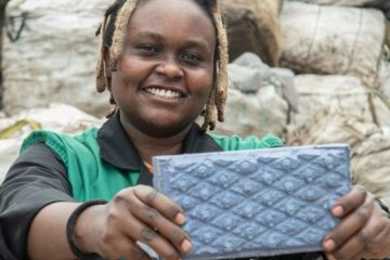 This Kenyan Woman Launched a Startup & Recycles Plastic Waste into Bricks 5x Stronger than Concrete