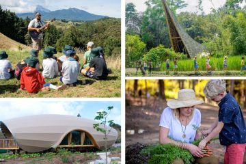 The Students at Green School Learn Outdoors with Interactive Projects