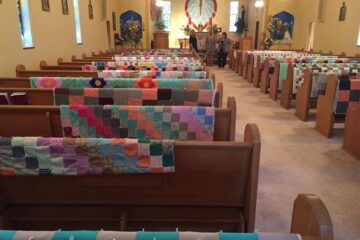 Family Decorates Church with Late Grandma's Quilts to Honor Her
