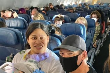 Unware She Was Pregnant, Lady Gives Birth on a Flight with Neonatal Crew onboard