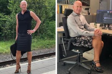 Straight & Married Dad of Three Says He Wears Skirts & Heels to Work because 'He Can'