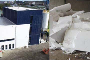 Innovative Plant Recycles Polystyrene Foam & Recover Valuable Resources Using Wind Power
