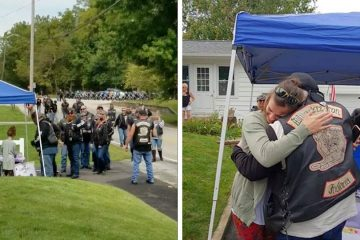Bikers Line Up at a Girl's Lemonade Stand after Her Mom Helped Save them during the Crash