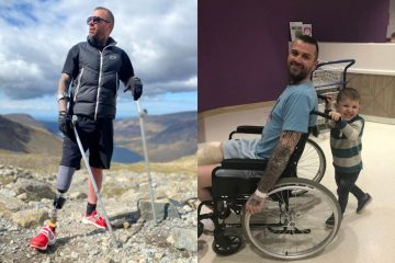 Amputee Who can Walk for 20 Minutes at a Time Climbs the Three Highest Peaks in England