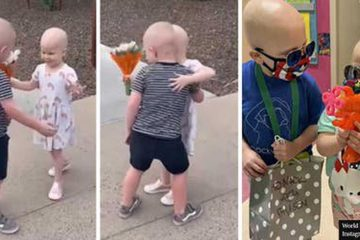 3-Year-Old BFFs Who Fought Cancer Together & Are now in Remission Had the Sweetest Reunion