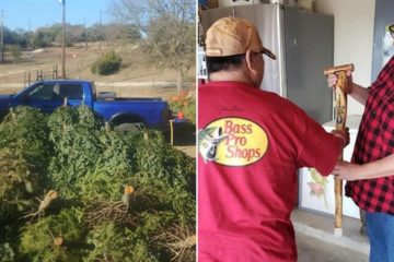 50-Year-Old Man from Texas Makes Canes for Veterans from Old Christmas Trees