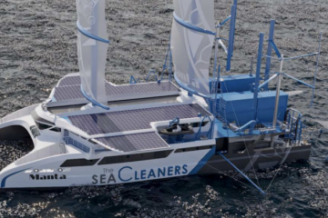 Meet Manta: The Sea-Cleaning Sailboat that Collects Up to 3 Tons of Garbage per Hour
